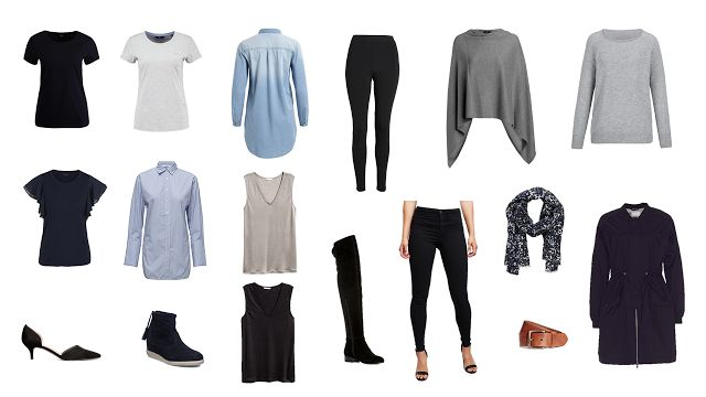 Capsule wardrobe, bas-& kapselgarderob, Project 333