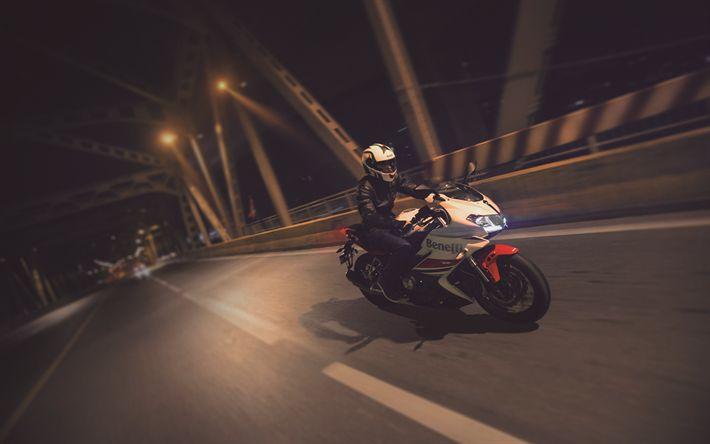 Download Wallpapers 4k, Benelli 302R, Night, 2018 Bikes