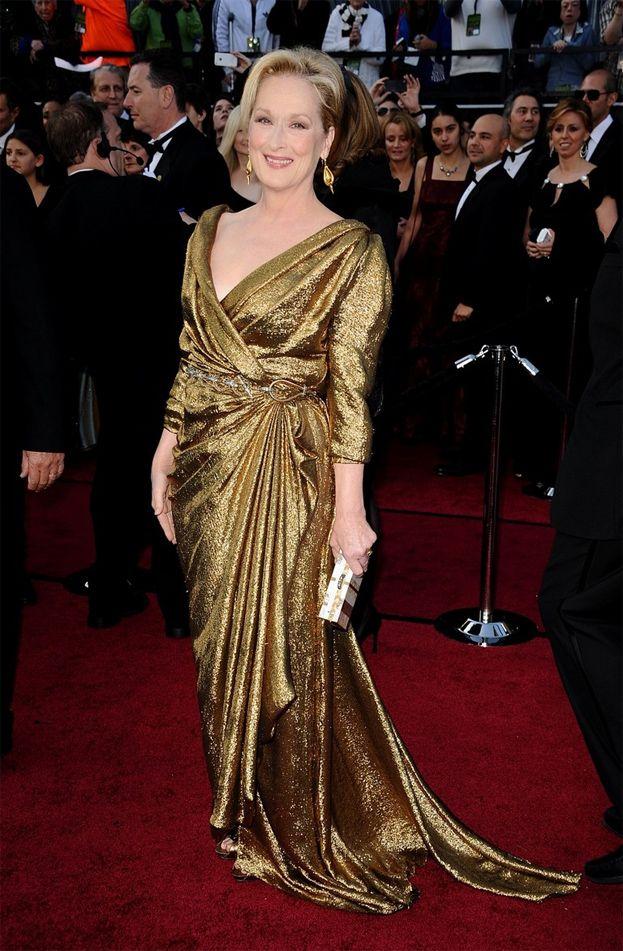 2012: Meryl Streep za Żelazną Damę, suknia Lanvin