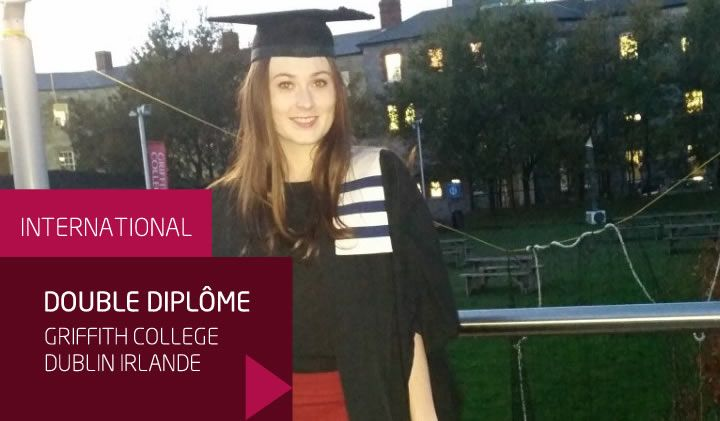 Elodie, promo 2016, partie étudier en Irlande pour obtenir un double diplôme