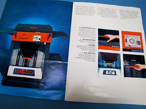 Museum of Forgotten Art Supplies - Repromaster Brochure - Stat Cameras