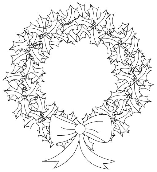 holly wreath and many other Christmas images from Bird's Cards free digital cutting files, digital stamps and more.