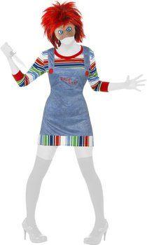 ¿Buscas algo atrevido y terrorífico a la vez? Si es así, no le des más vueltas y vístete de Chucky http://www.idealo.es/precios/4475209/smiffy-s-disfraz-chucky-mujer.html
