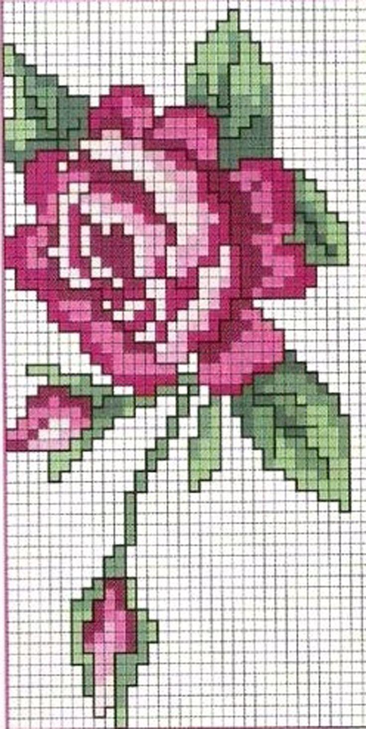 Розы - 12 схем для вышивания крестом