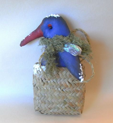 Pukeko in kit bag from New Zealand by The Christmas Den on Etsy