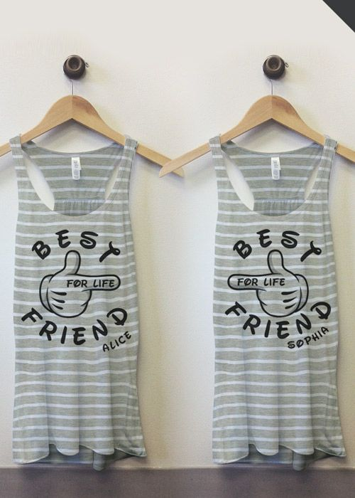 Customized Best Friend Tanks at Customized Girl. Tag your best friend!