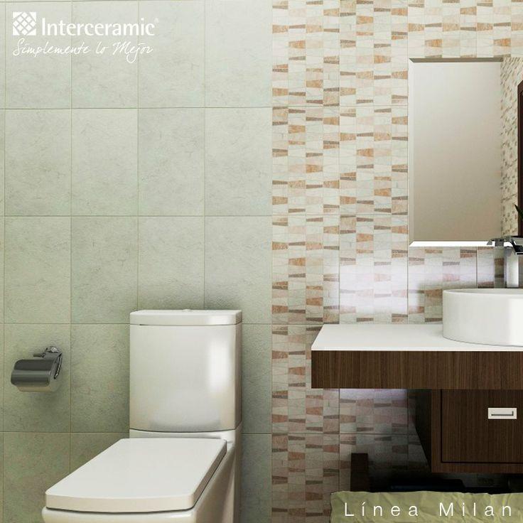 Juegos De Baño Interceramic:Divide con distintos diseños de #azulejo los #espacios del #baño