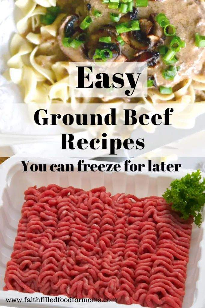 Quick Easy Ground Beef Recipes For The Freezer Recipe In 2020 Ground Beef Recipes Easy Ground Beef Recipes Dinner Recipes Easy Family