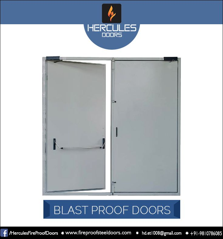 The Blast Proof Doors Are Customized Doors Manufactured On Given