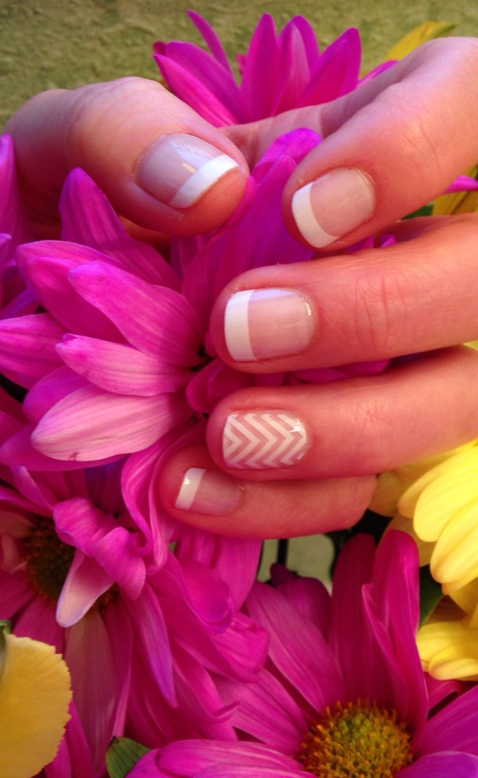 Jamberry  White Tips & White Chevron. Order at http://tamihoiseth.jamberry.com #whitetipjn  #whitechevronjn