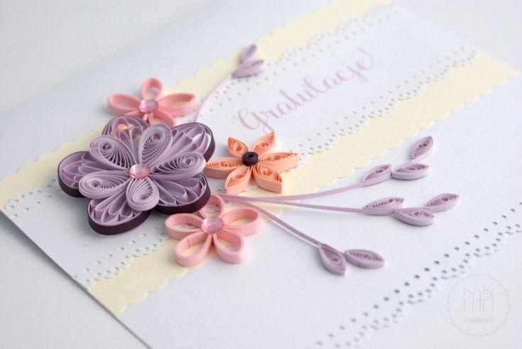 Romantyczna kartka z gratulacjami   Kartki ręcznie robione, zaproszenia ślubne handmade Poznań