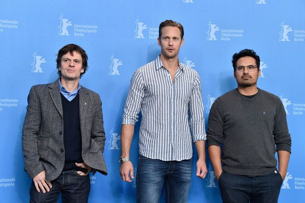 Alexander Skarsgard Photos - Producer Chris Clark and Actors Alexander Skarsgard and Michael Pena attend the 'War On Everyone' photo call during the 66th Berlinale International Film Festival Berlin at Grand Hyatt Hotel on February 12, 2016 in Berlin, Germany. - 'War on Everyone' Photo Call - 66th Berlinale International Film Festival