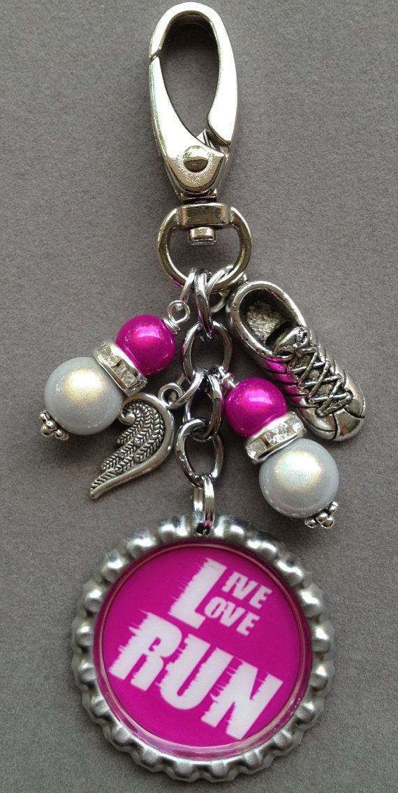 TRACK TEAM  bag bling live love run track running by KeyChainBling, $16.00