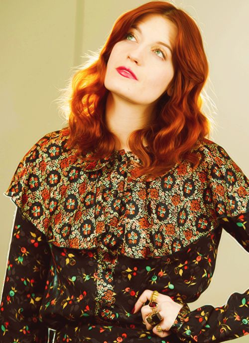 Florence Welch's hair, random but gorgeous.