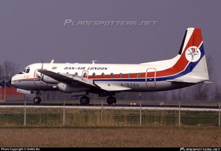 G-AZSU Dan-Air London Hawker Siddeley HS 748 232-2A photographed at Amsterdam Schiphol (AMS / EHAM) by DeMo Bo