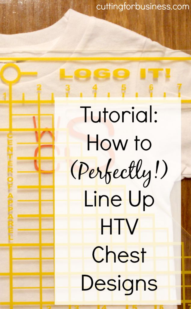 Tutorial: How to Use the Logo It to Line Up Heat Transfer Vinyl Chest Designs in your Silhouette or Cricut business by cuttingforbusiness.com
