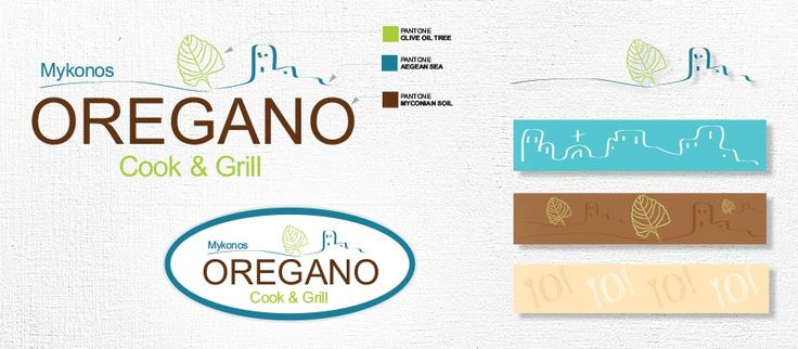 Design of the Logo and the patterns for oregano restaurant created by ThinkBAG