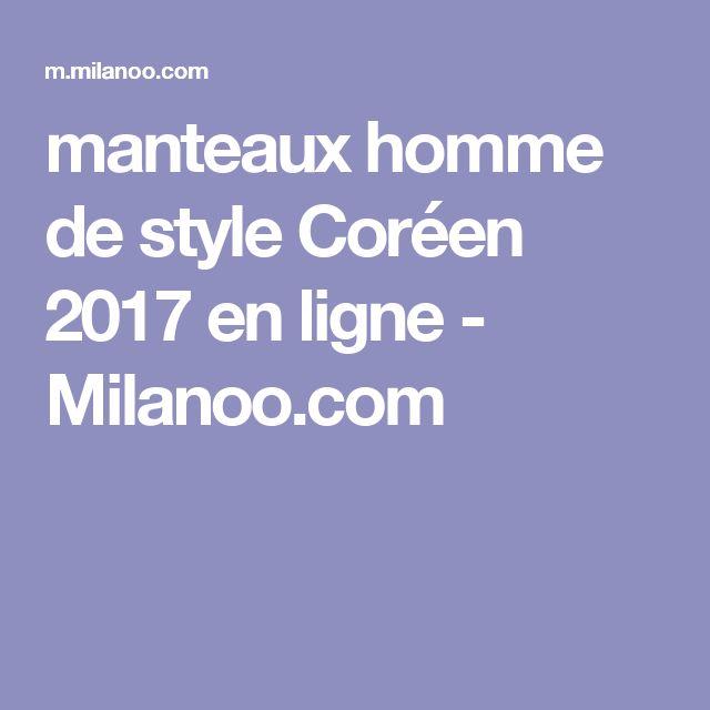 manteaux homme de style Coréen 2017 en ligne  - Milanoo.com