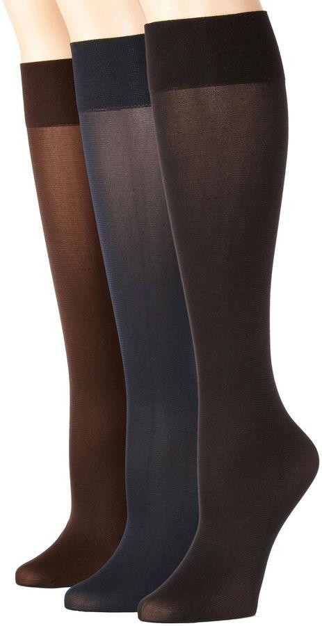 MIXIT Mixit 3pk Flat Knit Trouser Socks - Extended Size