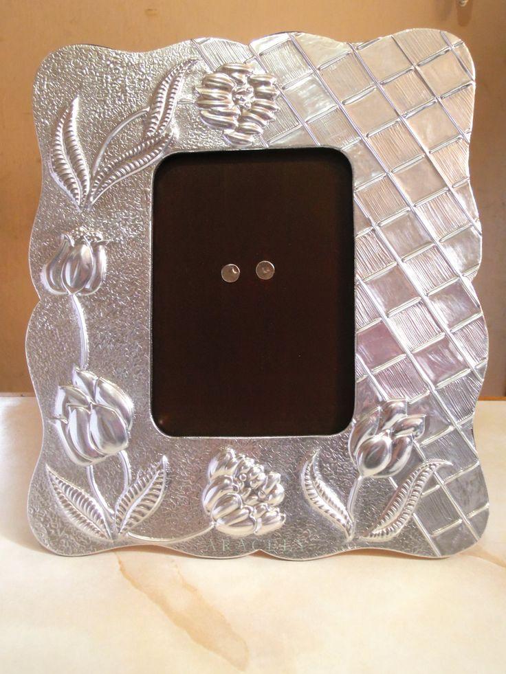 Porta retratos, repujado en aluminio | Aracelyasmine - Arte y ...