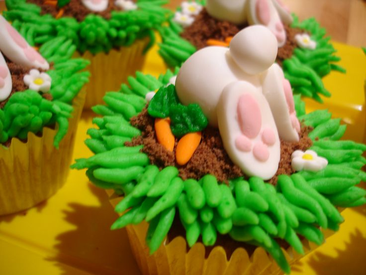 Digging For Carrots Bunny Cupcakes