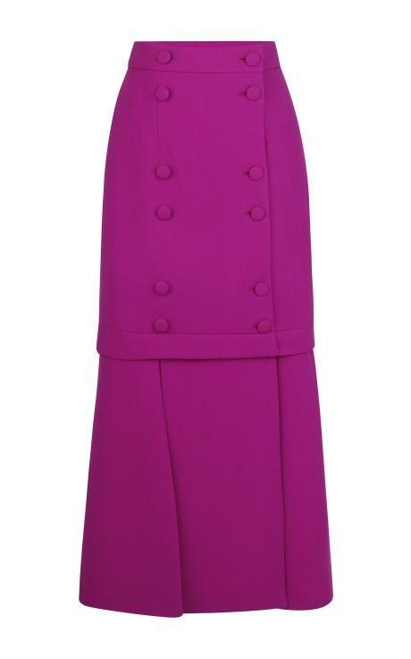Pink Wool Skirt by Barbara Casasola for Preorder on Moda Operandi