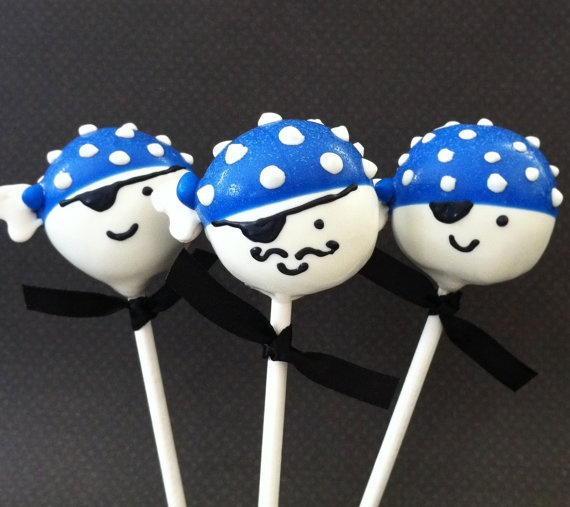 Boy #pirate #cakepops - For all your Pirate cake decorating supplies, please visit http://www.craftcompany.co.uk/occasions/party-themes/pirate-party.html