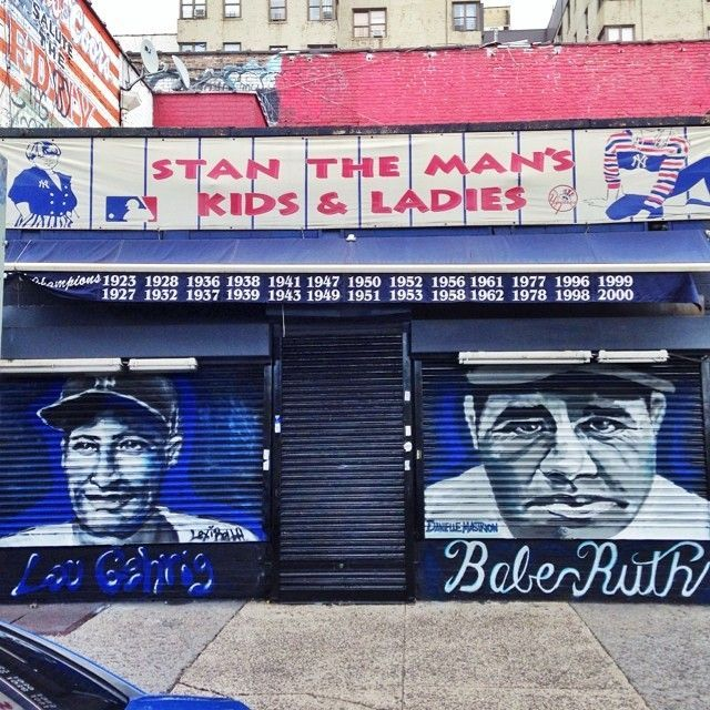 16 Crazy Cool Celebrity Murals Spotted Around NYC. Yankee StadiumLou ... Part 90