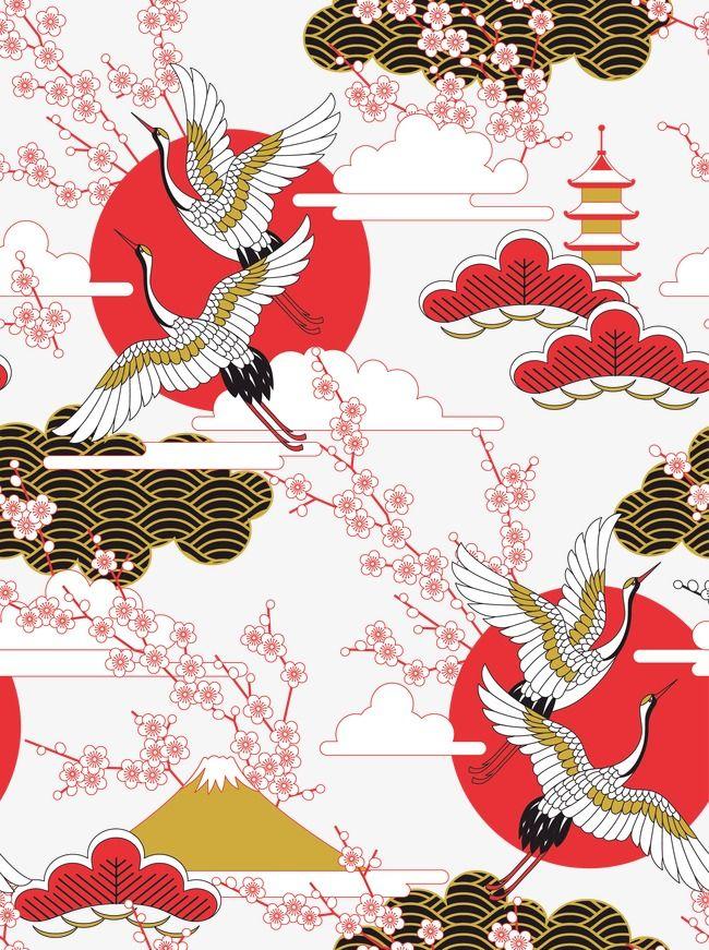 Japanese Style Illustration Japanese Artwork Japanese Drawings Japan Illustration