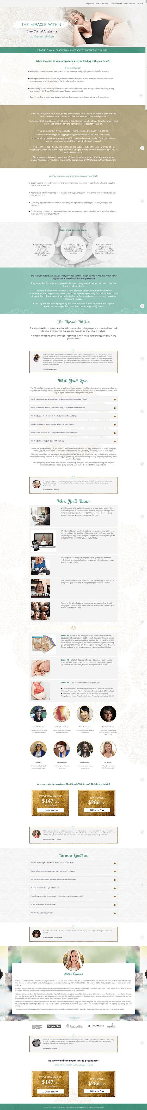 14 best sales pages landing pages images on pinterest design miracle withing sales page design by coral antler creative fandeluxe Image collections