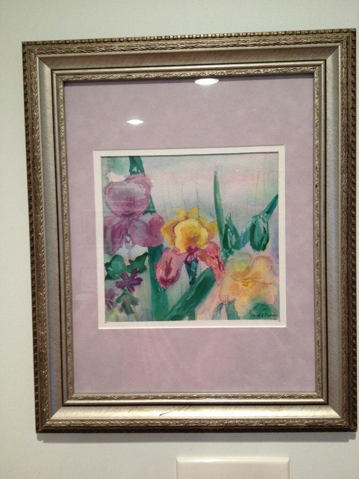 Watercolor Irises by Carol Jones
