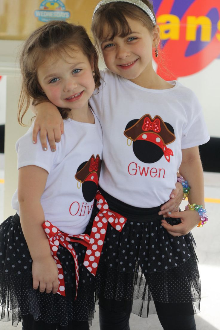 Big Mickey or Minnie Applique Personalized New PIrate Vacation t shirts. $24.99, via Etsy.
