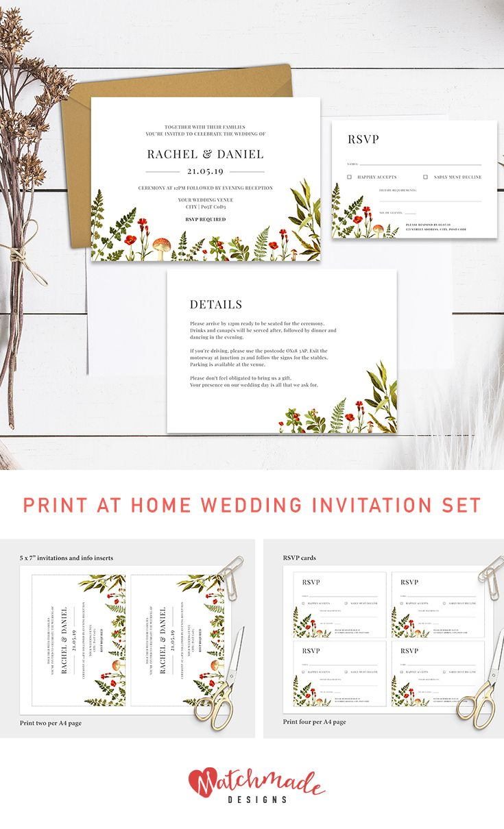 84 Best Wedding Invitation Templates Images On Pinterest