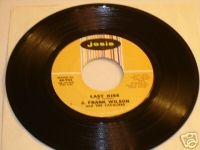 Last Kiss In 1964, J. Frank Wilson and the Cavaliers had the first real commercial success with the song. The cover was released in June 1964 and reached the Top 10 in October. It eventually reached number 2 on the Billboard Hot 100 charts, and also earned the band a gold record.