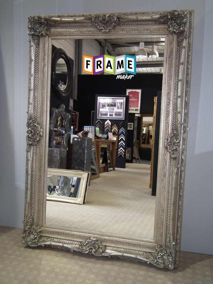 Grand Ornate Style Wall Mirror, 6ft2 x 4ft2 (188cm x 127cm).