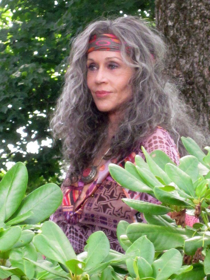 The Great Jane Fonda Grey Hair Inspiration Beautiful