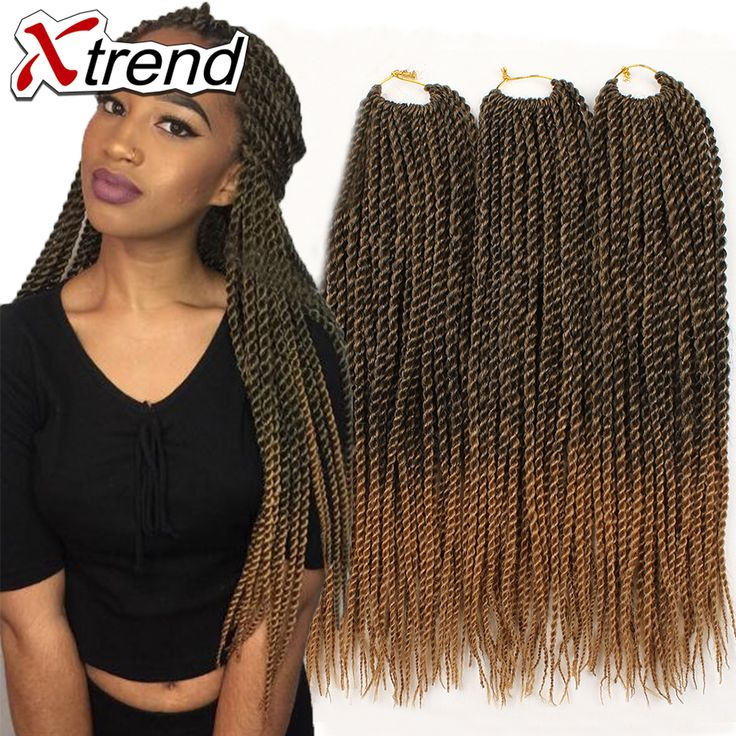 Senegalese Crochet Braids 18''30strands Ombre Senegalese crochet Curly Synthetic Braids Hair Extensions havana manbo twist