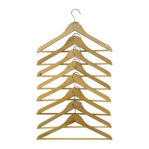 BUMERANG Kleiderbügel, gebogen - naturfarben - IKEA
