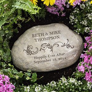 Create lasting Wedding memories with the Loving Couple Personalized Garden Stone. Find the best personalized wedding gifts at PersonalizationMall.com