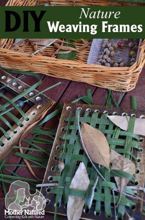 DIY Nature Weaving Frames. Gloucestershire Resource Centre http://www.grcltd.org/scrapstore/