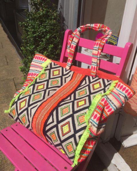 Neon Tote Bag   https://www.bohochic.co.uk/collections/bags/products/neon-tote-bag #BohoChic