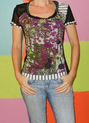 À vendre sur #vintedfrance ! http://www.vinted.fr/mode-femmes/hauts-and-t-shirts-t-shirts/29212631-t-shirt-resille-transparent-rayure-pois-motif-t238-40-garella-originalchiccasual