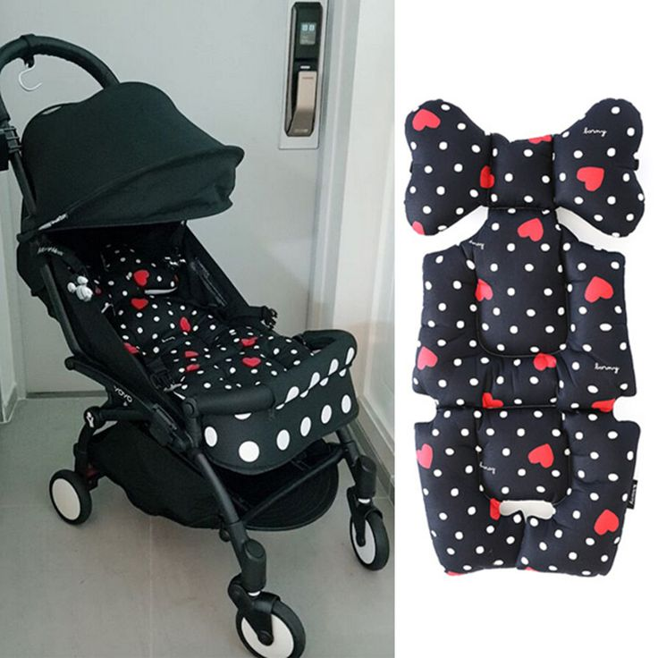 Brand Baby Infant Stroller Seat Cushion Cotton Mat, Soft Breathable Stroller Padding Liner, Baby Car Seat Pushchair Pram Cushion