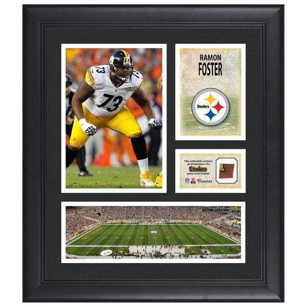 """Ramon Foster Pittsburgh Steelers Fanatics Authentic Framed 15"""" x 17"""" Collage with Piece of Game-Used Football - $69.99"""