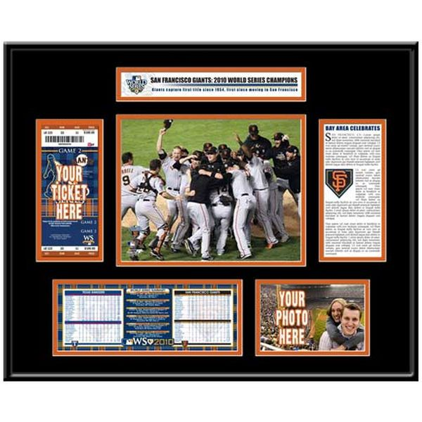 San Francisco Giants 2010 World Series Champions Ticket Frame - $154.99