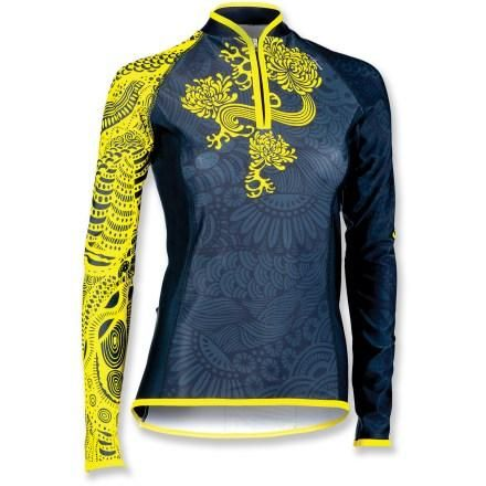 this makes me want to dust off the road bike this fall! --> Shebeest Divine Hana Bike Jersey - Women's
