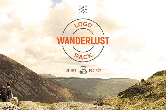 12 Wanderlust Logo Pack by BART.Co Design on @creativemarket
