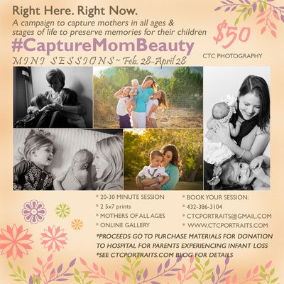 Capturing Mom's Beauty #CaptureMomBeauty Campaign Please be inspired - get IN FRONT of the camera to get those memories for your children!