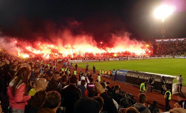 The Internal derby of Belgrad. Partizan vs. Crvena Zvezda. April 2014.