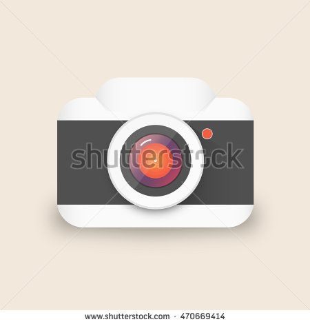 Vector illustration of a single camera that can be used as icon.